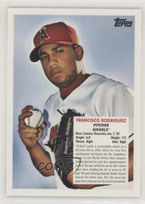 2008 Topps Trading Card History #TCH61 Francisco Rodriguez Los Angeles Angels