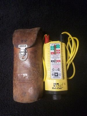 Ideal Vol-Con Voltage Continuity Tester & leather case Free US Shipping!