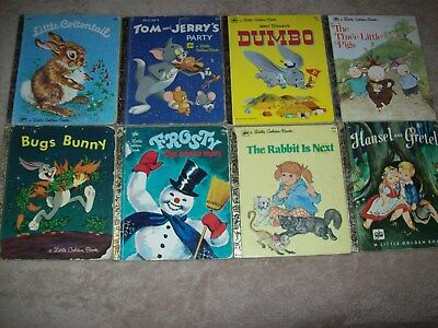 Vintage LITTLE GOLDEN BOOKS from 1970s - 8 Books - LOT 5 - Good Pre-Owned Cond.