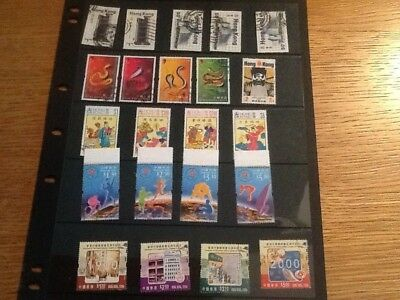 Hong Kong Stamps Nice Selection In Single Sided Stock Sheet