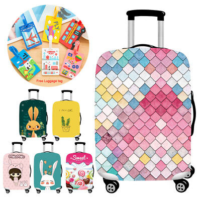 18-32 inch Anti-Scratch Travel Trolley Luggage Suitcase Protective Cover Elastic