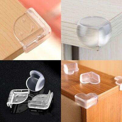 10PCS Clear Gel Adhesive Desk Corner Protector Baby Safety Bumper Cushion