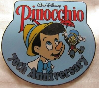 Disney Jiminy Cricket & Pinocchio When you Wish upon a Star 70th Anniversary pin
