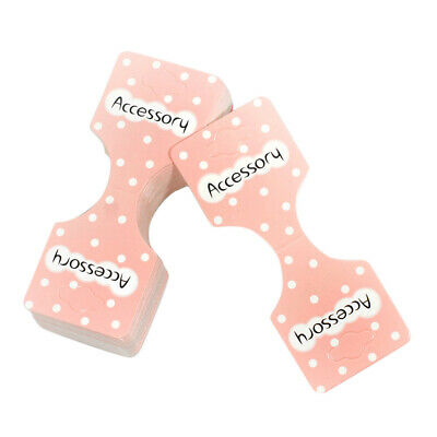 50 PCS Display Hang Flocked Cards Jewelry Hair Clip Cards Gift Packaging