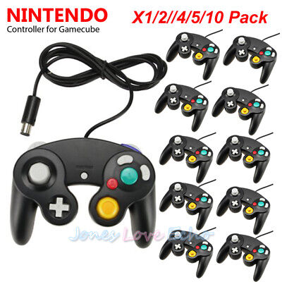 LOT Black Shock Game Controller Pad for Nintendo Gamecube GC Wii NEW US 2018
