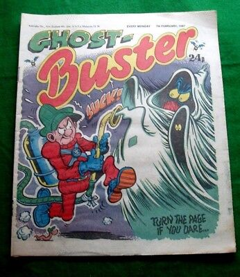 Buster Comic  Amazing Ghost Buster Stunning Cover !!!  7/2/1987