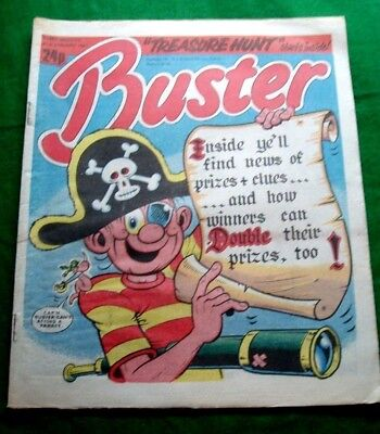 Buster Comic  Amazing Pirate Treasure Hunt  Stunning Cover !!!  31/1/1987