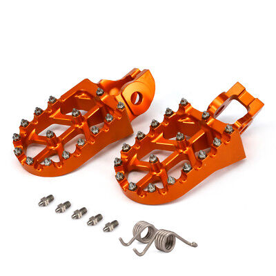Billet MX Foot Pegs Footpegs Rest Pedals For KTM EXC EXCF 250-500 17 XC 150-300