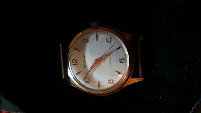 vintage gold plated Swiss made 17 jewel belfont wrist watch new old stock