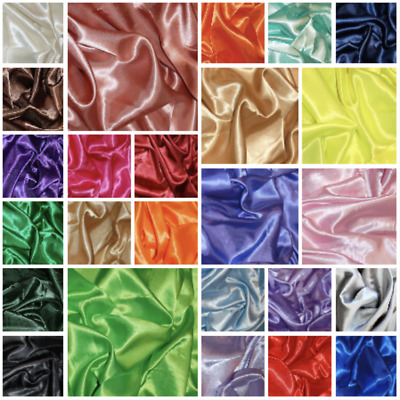 Silky Satin Dress Fabric Material 100% Polyester Craft 150cm wide