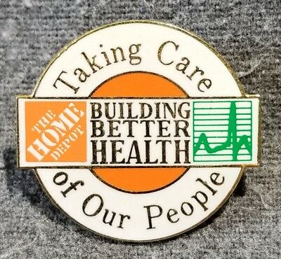 LMH PINBACK Pin HOME DEPOT Employee TAKING CARE OUR PEOPLE Better Health