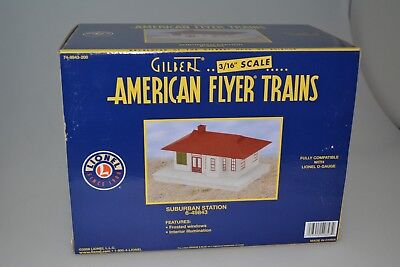 Gilbert/american Flyer Trains 6-49843 Suburban Station S Gauge Nib Box Rr New