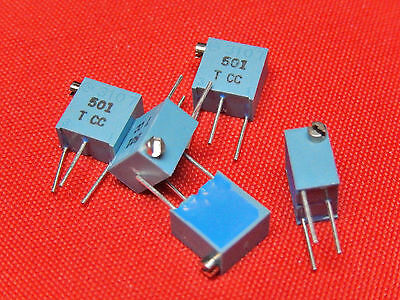 "5x Potentiometer 500 Ohm 1/4"" MURATA TRIMMER PV37X501C01B00 Now BOURNS"