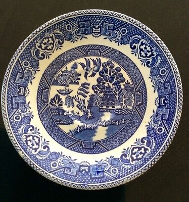 """""""Old Willow"""", Myott, Staffordshire, England, Blue & White Saucer."""