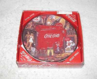 Coca-Cola Collector's Edition Mini Plate with Easel 1940-1950