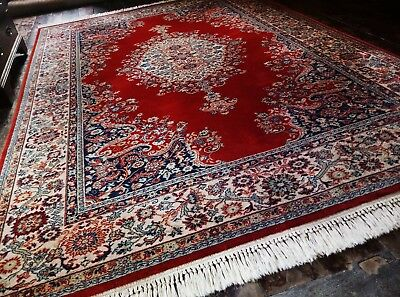 Extra Large John Lewis Persian Wool Rug Royal Keshan 10x7ft Handmade