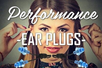 Ear Plugs Reusable Musician Swimming Sleeping Snoring Motorbike Noise Cancelling
