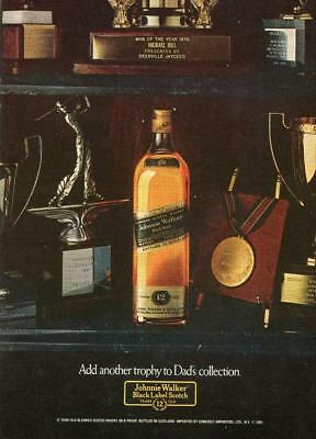 """Johnnie Walker Black Scotch Whisky """"add Another Trophy To Dad's Collection""""-Ad"""