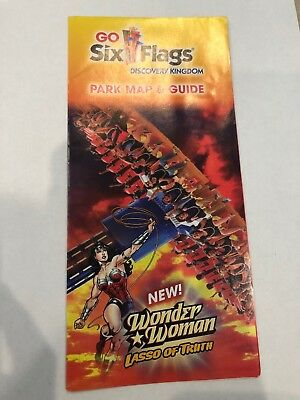 Six Flags Discovery Kingdom Park Map & Guide 2017