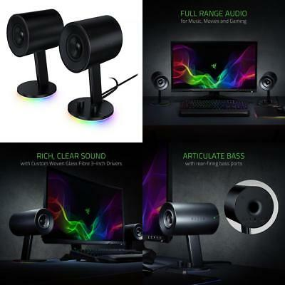 Razer Nommo Chroma - Computer Speakers, Rear Bass Ports for Full Range...