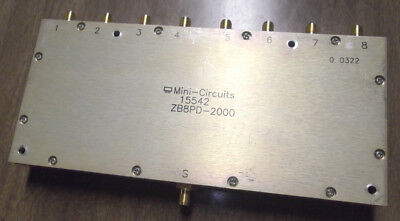MINI CIRCUITS ZB8PD-2000 POWER SPLITTER COMBINER SMA 8-WAY 2GHz USED 15542 RF