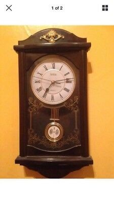 Vintage Acctim Wall Clock.. Good Condition, Chiming,good Working Order..