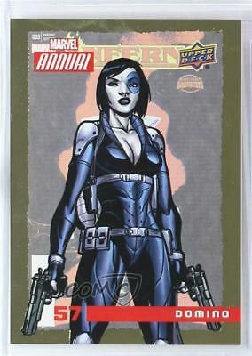 2016 Upper Deck Marvel Annual Gold #57 Domino Non-Sports Card 1md