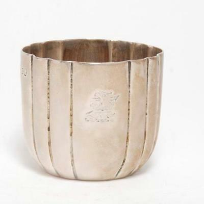 Antique Sterling Silver Fluted Tumbler C. 1800