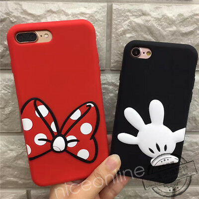 3D Cartoon Disney Soft Silicone Case For Samsung S8+ iPhone 6 7P X Huawei P10