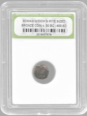 Rare Very Old Ancient Antique Widows Mite Roman Empire Era Jesus Bible Coin Y147