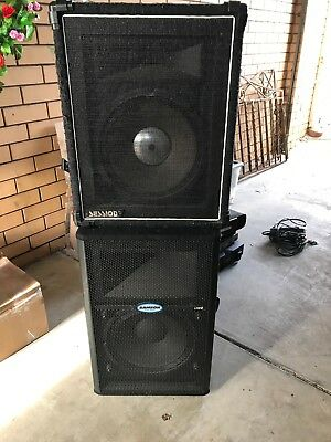 Samson Active Monitor Speaker PA + Session Passive Speaker Bundle