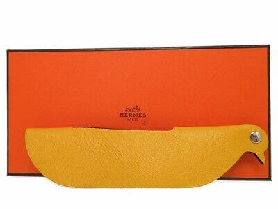 AUTHENTIC HERMES Krkkows hobject yellow purple Chevre 0387