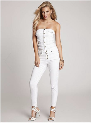 92704fa1ee9 GUESS BUTTON-UP DENIM JUMPSUIT IN TRUE WHITE WASH! For Summer!
