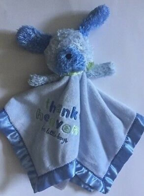 Carters Child Mine Puppy Blue Lovey Security Blanket Thank Heaven for Little Boy