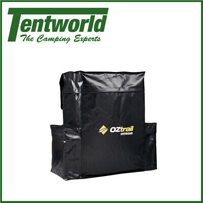 Oztrail Rear Spare Wheel Bin Black 60L Recovery Storage Bag Accessories 4x4 4wd
