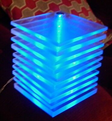 Oddball Perspex Led Table Lamp Good Condition