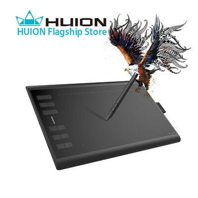 Huion H1060P Battery Free Graphic Drawing Tablet 10 x 6.25'' 8192 Pen Pressure