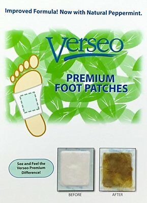 Verseo Detox Foot Patches (30 Pads) | Whole Body Detox | Reflexology Feet