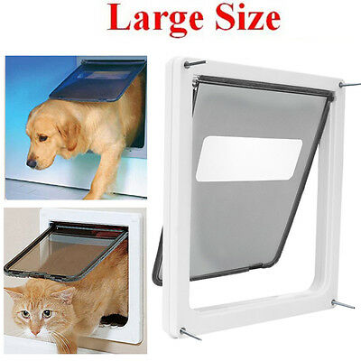 Trixie Pet Products 2-Way Locking Dog Door For Medium to X-Large Dogs White