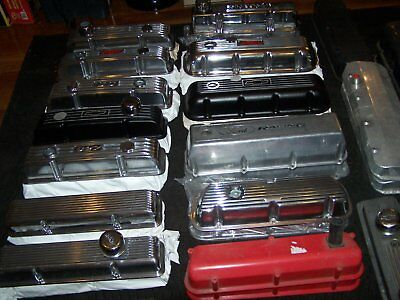 windsor 289/302/ 351 valve covers ansen finned polished