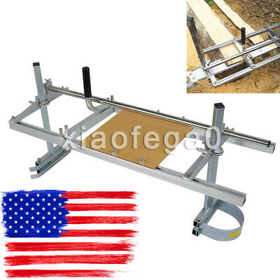"""Portable Chain Saw Mill Log Lumber Planking Cutting 14""""-36"""" Chainsaw Guide Bar"""