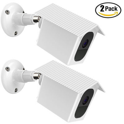 2pack Weatherproof Housing and Security Mount for Arlo Pro, Pro 2 Camera (White)
