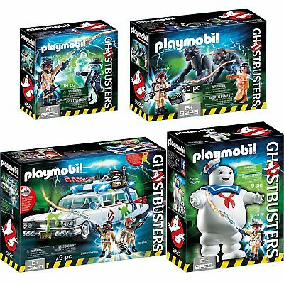 Playmobil Ghostbusters Set 9220 9221 9223 9224 Ecto-1 Stay Puft Venkman Geist