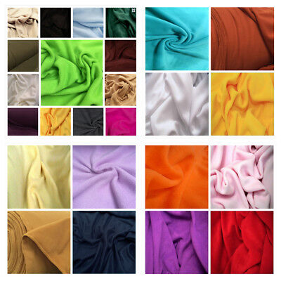 30 Colours Polar FLEECE Soft Fabric Material Antipill 150cm wide sold by metre
