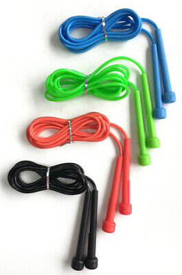 Skipping Rope Adult 9 foot Long Nylon Plastic Handles Gym Fitness Training Red