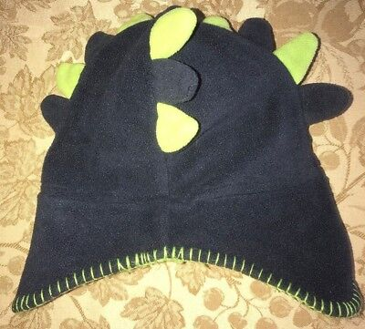 boys toddler size 3 4T KOALA KIDS dark blue green DINOSAUR WINTER HAT  fleece   447050f495f