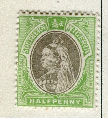 NIGERIA; SOUTHERN QV issue 1901-02 issue Mint hinged 1/2d. value