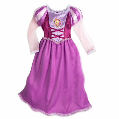 NWT DISNEY STORE Tangled Princess Rapunzel Nightgown Royal Gown ...