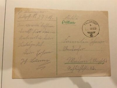 GERMANY; 1939 early Feldpost item fine used Poland