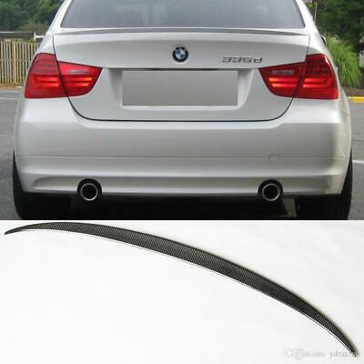 BMW E90 Carbon Fibre Wrapped 4D Saloon ABS BOOT LIP SPOILER M3 STYLE OME FIT